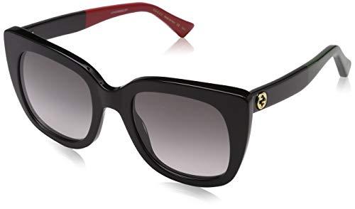 Gucci GG0163S 003 Occhiali da sole, Nero (3/Grey), 51 Donna