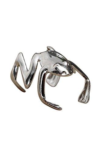 Vasko Moda Punk Plata Ear Cuff Aleación Jumping Frog Ear Clip Cuff Pendiente