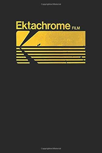 Ektachrome Film: Yellow Vintage Photography Kodak Ektachrome Notebook, Journal for Writing, Size 6