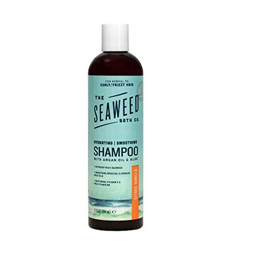 The Seaweed Bath Co. Smoothing Shampoo, Citrus Vanilla, Natural Organic Bladderwrack Seaweed, Vegan and Paraben Free, 12oz