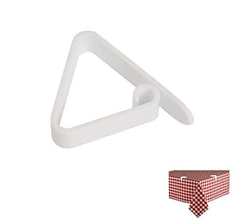 takestop® Ferma Tovaglia Bianco Plastica Set 24 Pezzi Clip per Tavoli