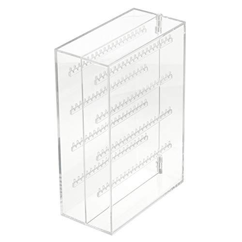 MUJI Soporte Doble De Acrílico Para Joyería, 17.5 cm Ancho x 8.8 cm De Fondo x 25 cm Altura