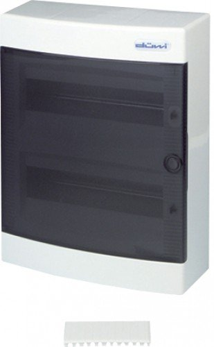 REV Ritter 0515532555 Kleinverteiler auf Putz mit transparenter Tür, weiß