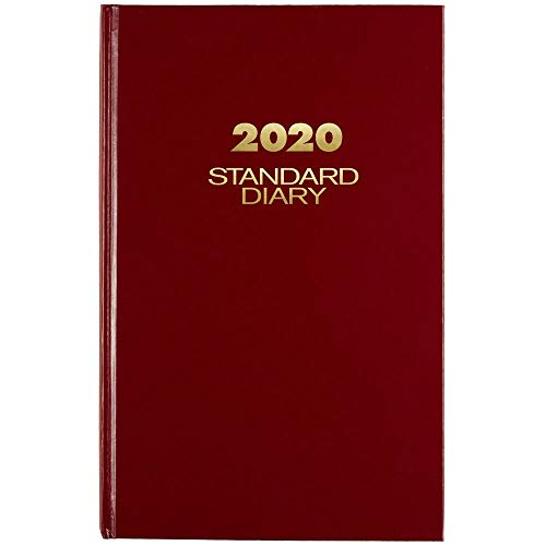 AT-A-GLANCE 2020 Standard Diary/Daily Journal, 7-3/4' x 12', Large, Red (SD37613)