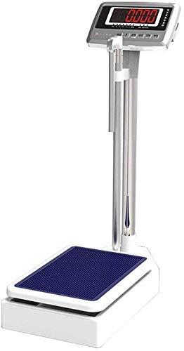 Báscula electrónica precisa de Altura y Peso, báscula médica, Sensor de Alta precisión, Adecuada para Gimnasio, Hospital, 200 kg / 440 LB