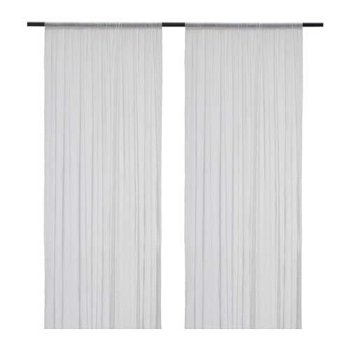 Unbekannt IKEA Gardinen-Set Hildrun - Zwei transparente Gardinenschals in 300 x 145 cm mit Tunnelsaum - lässt Tageslicht durch, ist Aber Blickdicht - Weiss