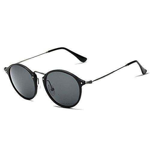 VEITHDIA 6358 - Gafas de sol polarizadas para hombre Gris Negro gris. Talla única