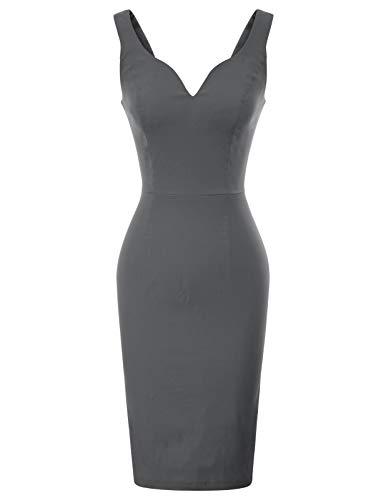 GRACE KARIN Rockabilly Kleid sexy Bodycon Kleid Sommer Business Kleider Damen CL987-3 M