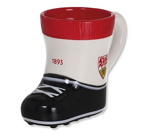 VfB Stuttgart Tasse / Kaffeetasse Modell: Kickstiefel / Fussballschuh mit Wappen und 1893 Schriftzug