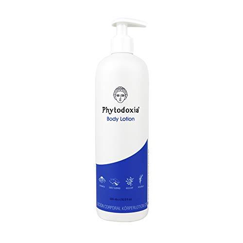 Bodylotion mit Vitamin E + Echinacea 500ml | Körperlotion mit Mandelöl Hagebuttenöl Rosmarin | Anti-Dessechant Straffende Nährende Feuchtigkeitscreme | Körpermilch Trockene Haut Atopische Empfindliche
