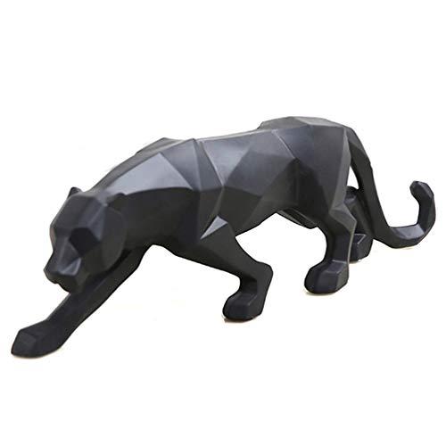 wyhweilong Leopard Skulptur Ornamente Skulptur Geometrische Harz Statue Wildlife Decor Geschenk