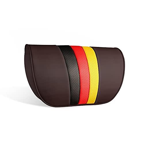 jwj Almohada de viaje para asiento de coche, reposacabezas de viaje, almohada para el cuello del coche, almohada de viaje (color café H)