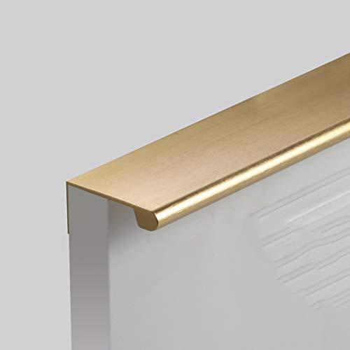 Moderna Tirador Invisible para Mueble Manija del Gabinete de Aleación de Aluminio Cepillado,Tirador de Armario de Cocina,Tirador de Cajón,Pomos de Puerta,Herrajes para Mueble(goldLength 1200mm)