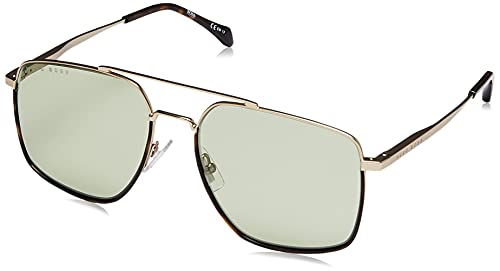 Hugo Boss Boss 1091/S, Gafas de Sol Hombre, Opaco Oro Chiaro, 58