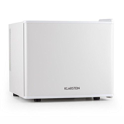 Klarstein Geheimversteck Minibar Minikühlschrank Mini Snacks- und Getränkekühlschrank (EEK: A+, 17 L, 38 dB leise, herausnehmbarer Regaleinschub, stufenloser Temperaturregler) weiß
