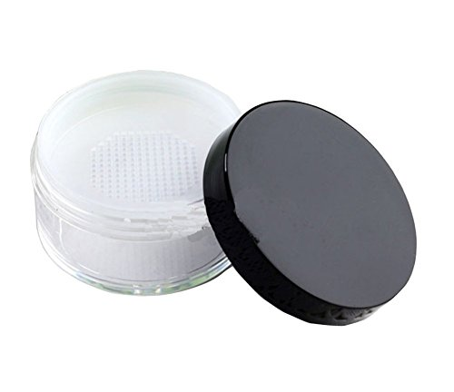 Empty Clear Foundation Make-up Pulver Puff Box Case Container mit Puder Puff Sifter und schwarze...