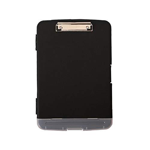 Portapapeles de aluminio Clásico Multifuncional Archivo Carpeta Organizador Plástico Portapapeles Caja Caja Pen Holder Papel