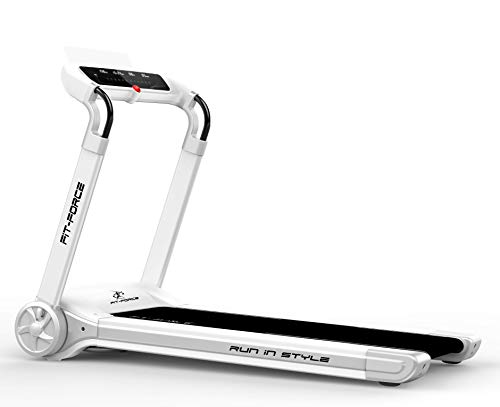 FIT-FORCE Cinta de Correr Plegable 2000W Bluetooth 12 programas Velocidad hasta 14kmph