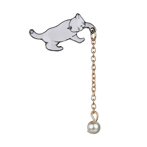 PULABO Pearl Cat Brooches Pins Christmas Wedding Gift for Women SuperiorQuality and Creativesecurity