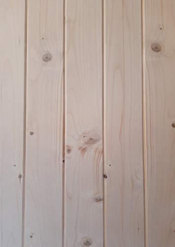 AZZAP Profilbretter Profilholz Fassadenprofil Fasebretter 15x90mm Länge:150cm Holz 20 St.