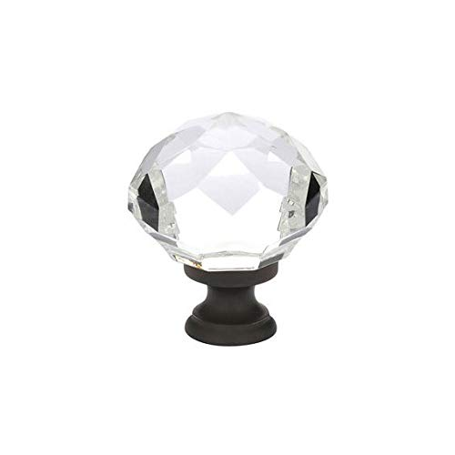 Emtek 86012 Diamond 1-1/4 Inch Diameter Mushroom Cabinet Knob from the Crystal A, Polished Chrome