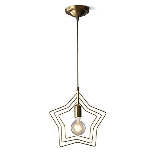 LED Moderno Pentagrama Cobre Luces Sola Cabeza Araña Residencial Ajustable Iluminación Interior...