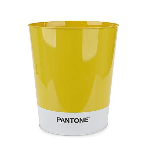 Balvi Papelera Pantone Color Amarillo Cubo de Reciclaje para la Oficina y el hogar Producto de papelería de diseño Moderno y Minimalista Lata 26x22x22 cm