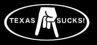 Texas Sucks Horns Down - Vinyl Decal Sticker - 5.75