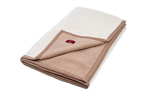 """Ritter Decken Alpaka Decke """"Arequipa weich, 150 x 200 cm, Creme Kamel (ungefärbt), aus 50% Alpaka und 50% Schurwolle (Natur). Wolldecke. Geeignet als Wohndecke, Kuscheldecke und Tagesdecke."""