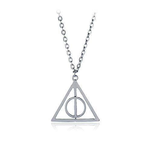 Accesorios De Cine Y Televisión Europeos Y Estadounidenses Harry Potter Reliquias De La Muerte Resurrección Colgante De Piedra Collar De Triángulo Giratorio Accesorios De Cosplay