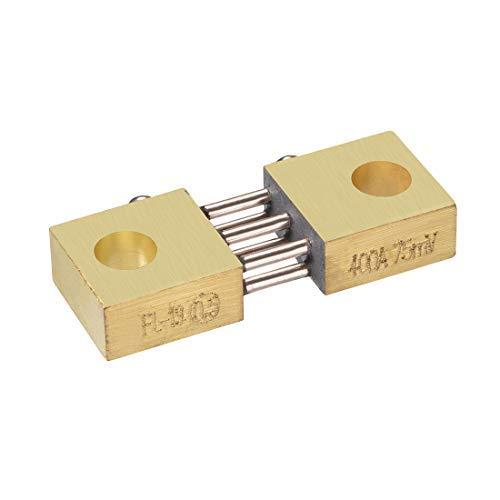 DealMux Shunt Widerstand 400A 75mV für DC Strommessgerät Analog Panel Meter Externer FL-19 Shunt Teiler