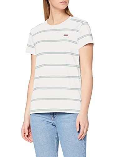 Levi's Perfect-tee Camiseta de Manga Corta, Multicolor (Alyssa Stripe Cloud Dancer 0062), Small para Mujer