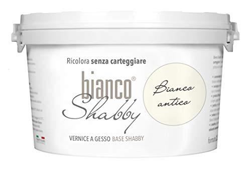 CHALK PAINT Bianco Antico per Mobili e Pareti - Pittura Shabby Chic Vintage EXTRA OPACA (2,5 Litri)