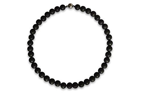 Vifaleno Lava Halskette, natürlich, rund, 10mm