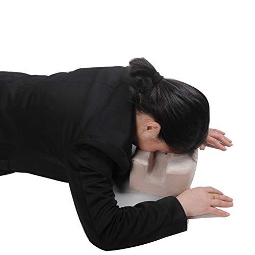 Almohada boca abajo, para uso posterior a cirugía ocular, almohadas para el cuidado de los ojos, almohadilla facial, funda extraíble, recuperación boca abajo para apoyo quirúrgico de desprendimiento