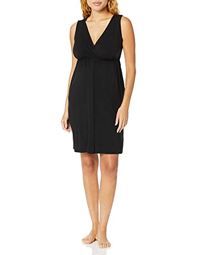 Motherhood Maternity Women's Maternity 3 in 1 Labor, Delivery, and Nursing Gown, Black, Small