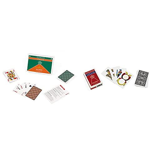 Dal Negro--90078 Burraco Italia, Carte Da Gioco, Multicolore, 822041 & 10071 - Napoletane Italia Carte Da Gioco Regionali, Astuccio Rosso