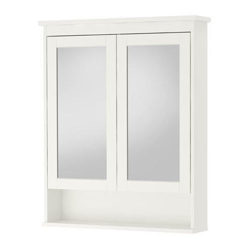 Armario con espejo de alta calidad HEMNES con 2 puertas, color blanco