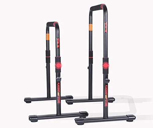 MGIZLJJ Heavy Duty Dip Station Dip Bar Full Pull Up Parallel Bar Fitness Station Strength Training Men and Women Indoor Home Gym Exercise Workout Equipment Single Parallel Bars
