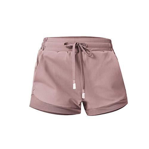Pantalones Cortos para Mujer Ropa de Verano Pantalones Cortos Deportivos de Seguridad de Doble Capa Pantalones Cortos para Correr al Aire Libre de Secado rápido Yoga Fitness Pantalones Cortos L
