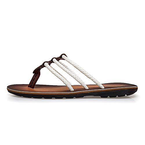 LULI Mens Flip Flops Slip On Synthetic Leather Simple and Convenient Lightweight Beach Cozy Breathable The Best in Cool Summer Thong Sandals with Arch Support flip Flops