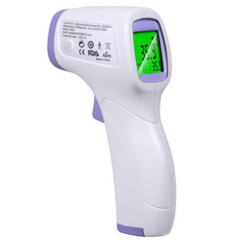 非接触式電子温度計 アイメディータ 赤外線 非接触温度計 32回記録 自動OFF機能 大画面