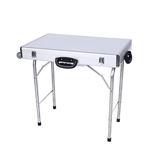 FOLOSAFENAR 70 * 50 * 10cm Show Case Table 60CM Trípode Manijas Ruedas Show