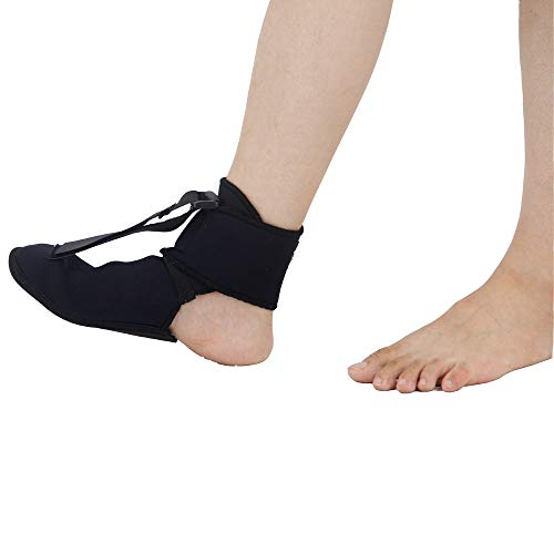 Plantar FXT Night Splint Black Night Time Relief for Plantar Fasciitis Medical Ankle Support Treat Heel Pain Best Foot Pain Relief Orthosis Healthcare Products (Small)