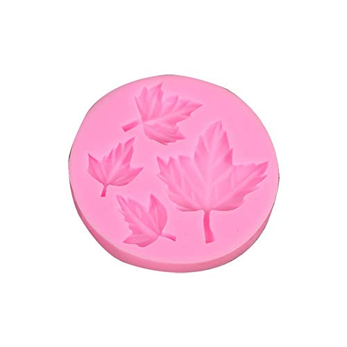 Wicemoon 1 Pack 3D Maple Leaf Fondant Chocolate Silicone Cake Dessert Mold