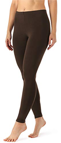 Merry Style Damen Lange Leggings aus Viskose MS10-143 (Braun, S)
