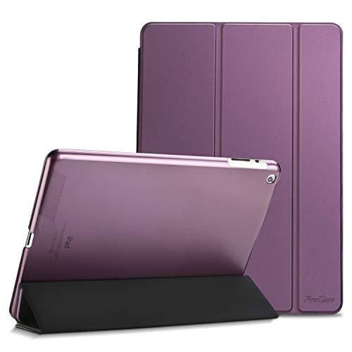 Procase Funda para iPad 2a 3a 4a 9.7' Modelos Viejos 2012 2011, Carcasa Delgada para iPad A1395 A1396 A1397 A1416 A1430 A1403 A1458 A1459 A1460 Tapa Inteligente y Posterior Translúcido - Violeta