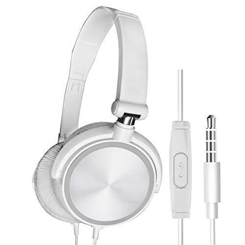 MeterMall S1 Bedraad Computer Headset met Microfoon Zware Bass Game Karaoke Voice Headset Wit met tarwedoos