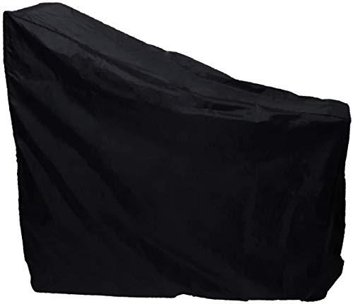 Mazu Homee Cubierta para bicicleta de ejercicio, cubierta protectora vertical para ciclismo interior gruesa impermeable 210D tela Oxford es ideal para uso en interiores y exteriores (negro)