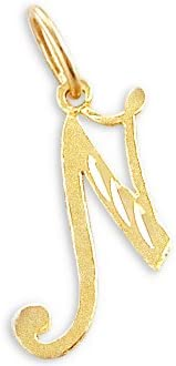 Sonia Jewels Challenge the lowest price of Japan 14k Yellow Gold Initial N New Orleans Mall Pendant Letter